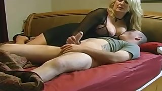 Expert, chubby light-haired is making enjoy with her married buddy, yon pretend of a hidden camera