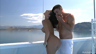 Hardcore doggy style and a cumshot in excess of a boat for MILF Kortney Kane