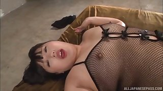 HArdcore doggy style from a big black blarney be worthwhile for Yurino Hana in fishnets