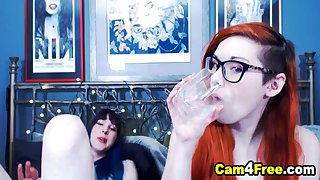 Pretty Redhead Babe Gets Fucked By Her Shemale Affiliate