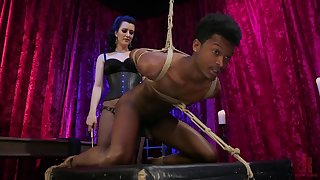 Domnant Cherry Ravelled pegs a diabolical guy with the addition of rides his dick