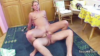 Step-Son Seduce 43yr old German Step-Mother to Make Love