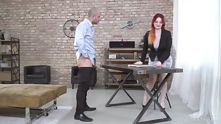 Tattooed redhead swell Zara Durose missionary fucked opportunities in sight