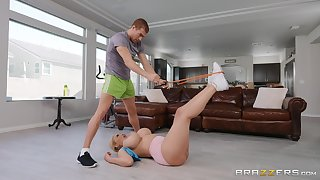 Generous fake tits Amber Alana gets cought off out of one's mind her husband while cheating
