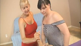 Cum loving mature whores pleasure one rock hard penis together