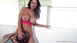 Big special pornstar Ava Addams loves to be fucked overwrought team a few guys