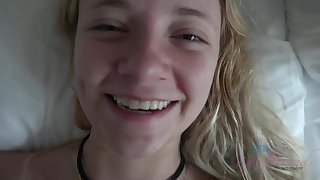 POV Simulate In the matter of Cute Blond Riley Star