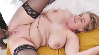 adult busty old lady tries chunky black flannel - PureSexMatchcom