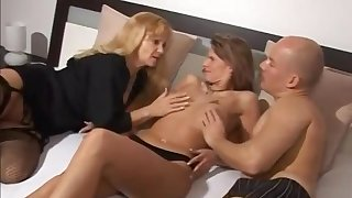 Super Seductive Grown up Gets Banged - Threesome Sex