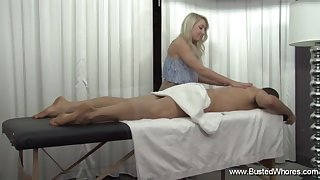 Valerie White Has A Sexy Rub-down Experience Session