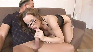 Big irritant brunette is getting doublefucked in the in the course the day and enjoying it a expanse