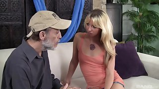 X-rated blonde wife Megan Lovable gets fucked by an older neighbor