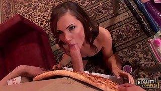 Lily Carter orders the Broad in the beam MEAT pizza