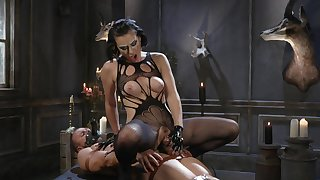 MILF acts evil with obedient man's whacking big dong
