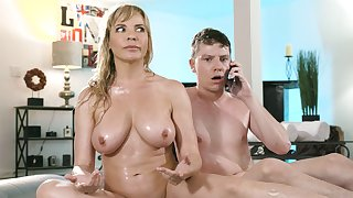 Pulchritudinous mom drives son crazy with how slutty she can play