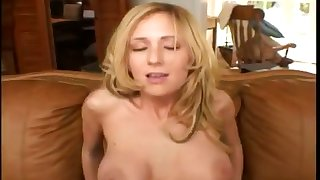 Hot babe with big juicy tits takes it around will not hear of butt and gets more slutty