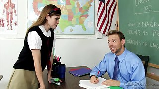 Teacher's Male Stick For Hot Schoolgirl - Lara Brookes
