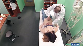 Young patient feels perfect to the fullest being fucked and jizzed