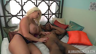 Gigantic voluptuous cock slayer Alura Jenson loves interracial have a passion