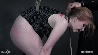 Horny dexterous puts a bootylicious babe in some nice bondage