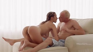 WOWGIRLS, Super Stained Joanna Lets the Guy Fuck Her As He Wants